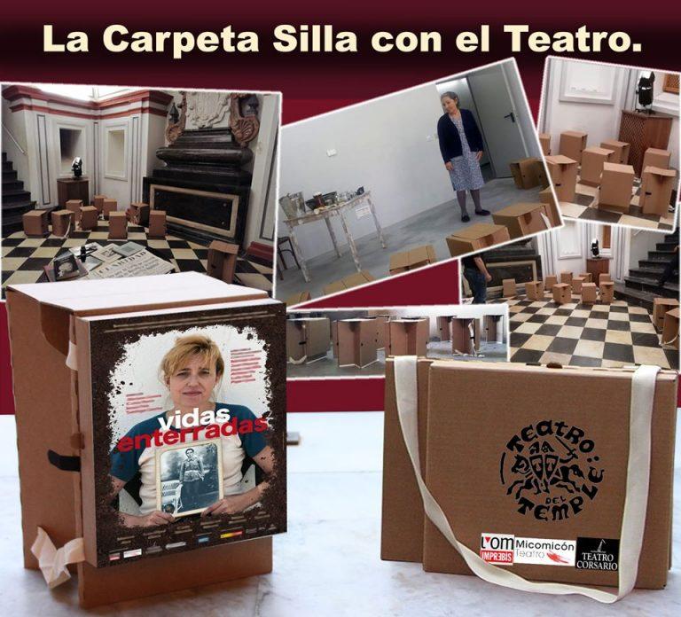 Carpetas Sillas con el teatro El Temple